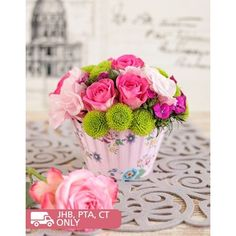 A cute pink rose flower arrangement that looks like a delicious cupcake. Cupcake Arrangements, Rose Flower Arrangements, Pink Rose Flower, Pink Roses, Order Cupcakes Online, Flower Cupcakes, Flowers For You, Beautiful Flowers, Administrative Professional