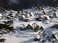 Shirakawago, Gifu, Japan in Winter... (Unesco World Heritage) ....really want to…