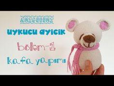 Amigurumi Uykucu Ayıcık Yapımı - Baş, Kulak, Burun | Bölüm-1 | Sleepy Bear | Part-1 | biss - YouTube
