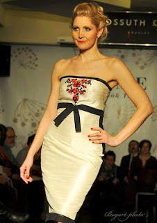 costume dress with Kalocsa motif