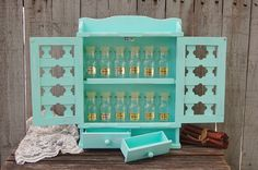 Mint green spice rack