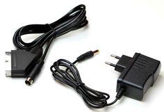 Sega Mega Drive 2 RGB Scartkabel + Netzteil für Sega Mega Drive 2 (Neu)
