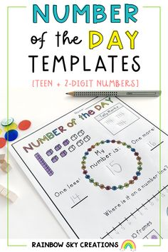 This pack includes 16 generic Number of the Day templates to engage younger students in learning about how the number system works. They have been created so you can use them with any teen or 2-digit number. Math Activities, Teaching Resources, Teaching Ideas, Primary Maths, Primary Classroom, Professional Development For Teachers, Tally Marks, Rainbow Sky, Australian Curriculum