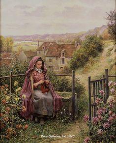 O Pintor Daniel Ridgway Knight Renoir, Paintings I Love, Beautiful Paintings, Beautiful Images, Romantic Paintings, Louis Aston Knight, Charles Gleyre, Tricot D'art, Art Ancien
