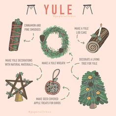 Yule is fast approaching. A few ideas for what you can do to celebrate yule. Credit to owner x Wiccan Spell Book, Wiccan Witch, Wiccan Spells, Magick, Yule Wicca, Spell Books, Magic Spells, Samhain Ritual, Witch Rituals