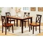 Poundex Furniture - 5 Piece Dining Room Set - F2250-5SET  SPECIAL PRICE: $589.00