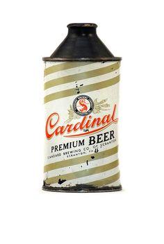 Vintage beer can Cardinal Premium