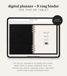 Bullet Journal On Ipad, Bullet Journal Themes, A5 Binder, Ring Binder, Printable Planner, Printables, Project Planner, Create A Budget, Wonder Women