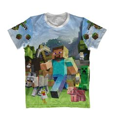 ----------------------------------------- DESCRIÇÃO -----------------------------------------    As camisetas são confeccionas malha com 100% poliester resultando em cores vibrantes e fabricado por processo de sublimação. O tecido apesar de ser de poliester possui toque de algodão.    -----------...