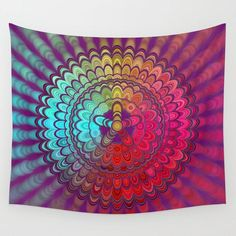 Mandala flower wheel wall tapestry by david zydd # Mandala Tapestry, Wall Tapestry, Cosy Bedroom, Bedroom Ideas, Bedroom Decor, Hot Wheels, Entryway Decor, Wall Decor, Party Friends