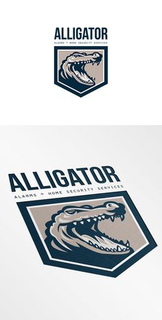 Alligator Alarms and Home Security L by patrimonio on @creativemarket