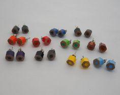Pick 5, Stud Earrings, Post Earrings, Colored Pencil,  Earring Set, Teacher, Artist, Crafter, Gift, Teacher Gift, Multi Color, Rainbow on Etsy, $19.69 CAD