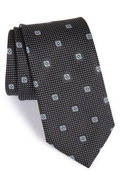 Men's John W. Nordstrom 'Lambert Neat' Medallion Silk Tie