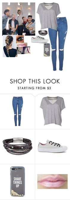 """""""Best Song Ever Video with One Direction"""" by princessmaniac-5sos ❤ liked on Polyvore featuring Topshop, Acne Studios, SAACHI Style, Converse and Kate Spade"""