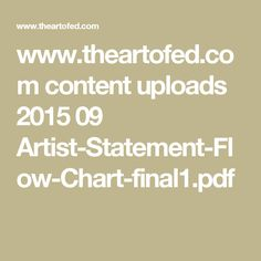 www.theartofed.com content uploads 2015 09 Artist-Statement-Flow-Chart-final1.pdf