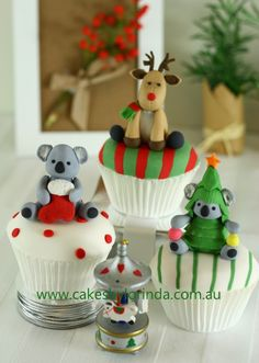 Christmas Animal Cupcakes | by Temeraire