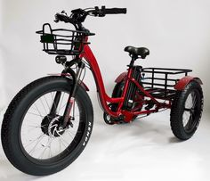 Fat tire electric tricycle - Factory Sale now! Electric Bike Kits, Electric Tricycle, Electric Scooter, Electric Cycles, Tricycle Bike, Bicycle Seats, Motorized Tricycle, Bicycle Sidecar, Home Repair Services