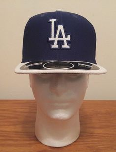 New Era 59Fifty Los Angeles Dodgers MLB Baseball Diamond Hat Cap 6 7/8 Fitted #NewEra #LosAngelesDodgers