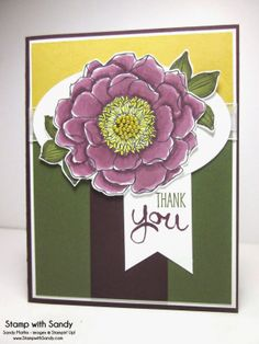Stamp With Sandy: Blended Bloom colored with new Blendabilities Markers by Stampin' Up