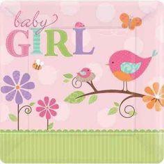 Baby Bird Girl Baby Shower Party Supplies