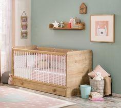 Patut din pal cu sertar, pentru bebe Mocha Baby Nature, 140 x 70 cm Kidsroom, Mochi, Baby Room, Cribs, Interior Design, Bed, Inspiration, Furniture, Decoration