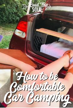 Tips for Making Car Camping More Comfortable How to be comfortable car camping! Great video and tips on how to be more comfortable camping in a small car. Auto Camping, Truck Camping, Family Camping, Tent Camping, Stealth Camping, Glamping, Camping Solo, Minivan Camping, Women Camping