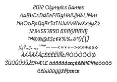 2012 olympic games london typeface by alias