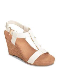 A2 by Aerosoles White Plush Nite Sandal