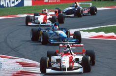 Hakkinen (McLaren), Herbert (Benetton), Blundell (McLaren), Frentzen (Sauber). Italian GP, Monza, 1995. #F1