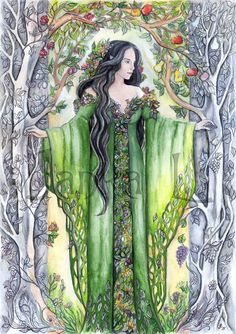 Yavanna the Queen of the Earth by JankaLart on Etsy