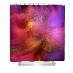 Orchid Moods Shower Curtain Featuring The Art Of Carol Cavalaris