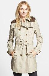 Burberry Brit 'Reymoore' Trench Coat with Detachable Hood & Liner