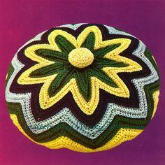 Vintage Crochet Pattern 247 PDF Chevron Cushion from by wonkyzebra, $3.00