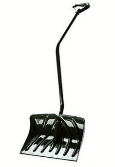 Suncast Snow Shovel/Pusher Combo with Ergonomic Shaped Handle And Wear Strip Snow Sled, Shovel, Handle, Dustpan, Door Knob