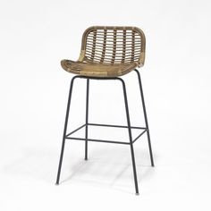 Unique Woven Bar Stools with Backs