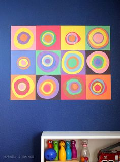 Kandinsky Collage Art Activity for Kids