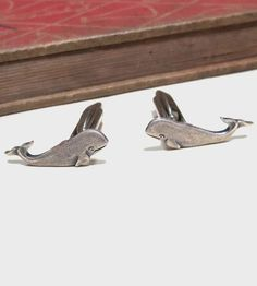 Whale Antiqued Silver Cufflinks by nitelily glamour on Scoutmob Shoppe