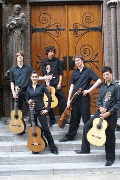 Our young guitar ensemble in Austria.