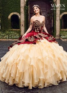 A charro quinceanera dress is the perfect way for you to celebrate your Mexican heritage. A charro quinceanera theme is a popular theme Mexican Quinceanera Dresses, Mexican Dresses, Quinceanera Party, Mariachi Quinceanera Dress, Burgundy Quinceanera Dresses, Quinceanera Decorations, Maskerade Outfit, Charro Dresses, Vestido Charro