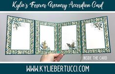 Accordion Card with the Forever Greenery Suite - Kylie Bertucci
