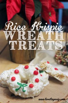 [sws_pin_it]I know it's hard to improve on the family favorite of Rice Krispie squares, but the kids and I made these Rice Krispie Wreaths and OMG, are they Christmas Snacks, Christmas Cooking, Christmas Goodies, Christmas Candy, Holiday Treats, Holiday Recipes, Christmas Time, Cereal Treats, Rice Krispie Treats