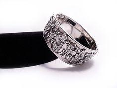Stunning Whiting and Davis Hinged Bracelet  ca by AgeofPlastic, $45.00