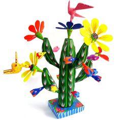 Alebrije Cactus con Aves (Mediano)