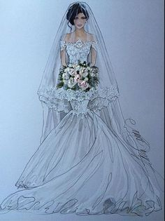 Fashion Design Sketchbook, Fashion Design Drawings, Fashion Sketches, Wedding Dress Illustrations, Wedding Dress Sketches, Wedding Dresses, Fashion Illustration Collage, Fashion Art, Fashion Beauty
