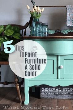 Woodworking Projects Gallery - How to paint furniture a solid color How to paint furniture a solid color - Easy Wood Projects, Diy Furniture Projects, Easy Woodworking Projects, Furniture Makeover, Fine Woodworking, Project Ideas, Colorful Furniture, Unique Furniture, Repurposed Furniture