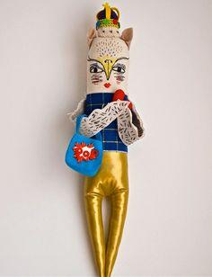 Art Doll Fabric cloth par JessQuinnSmallArt