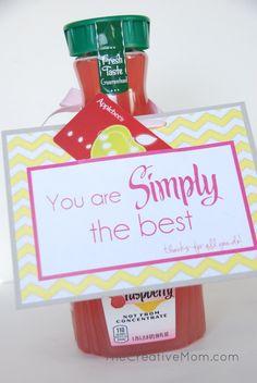 Simply The Best {teacher appreciation} - The Creative Mom