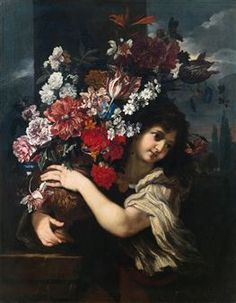 Artwork by Il Baciccio, Abraham Brueghel, A youth lifting a vase of flowers from the pedestal, Made of Oil on canvas Flower Vases, Flowers, St Thomas, Magazine Art, Art Market, Pedestal, Oil On Canvas, Opera, Youth