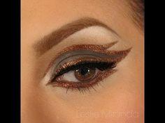 Copper Eyeliner Design Tutorial - #copper #eyeliner #eyemakeup #makeup #eyes #tutorial #eyetutorial #bronze #lesliemiranda - bellashoot.com