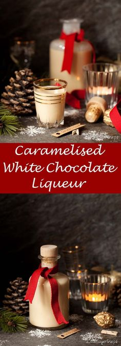 Caramelised White Chocolate Liqueur is an elegant, creamy white chocolate amp; vodka liqueur with undertones of caramel. It makes a wonderful foodie gift. Vodka Drinks, Fun Cocktails, Fun Drinks, Yummy Drinks, Popular Cocktails, Vodka Martini, Alcoholic Drinks, Beverages, White Chocolate Liqueur